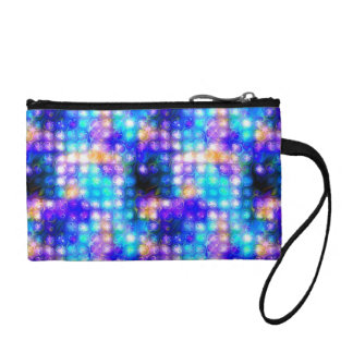 Blue Colorful Whimsical Abstract Coin Purse