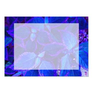 Blue colorized plant coleus 5x7 paper invitation card