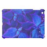 Blue colorized plant coleus cover for the iPad mini