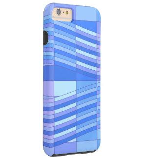 Blue Colors Wavy Rectangles Tough iPhone 6 Plus Case