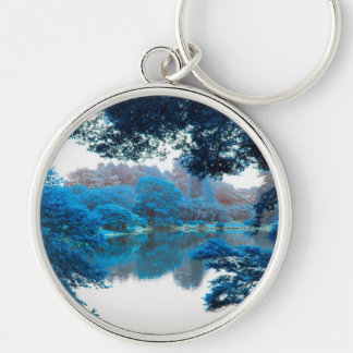 Blue colour effected cool, unique nature, lake keychain