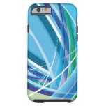 Blue Colourful Lines Background iPhone 6 Case