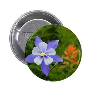 Blue Columbine Buttons