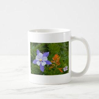 Blue Columbine Classic White Coffee Mug