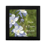 Blue Columbine Flowers Wedding Gift Box