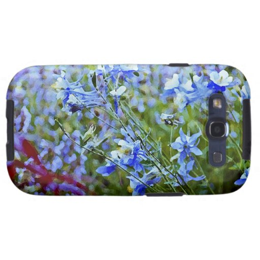 Blue Columbines - Flowers Galaxy S3 Cover