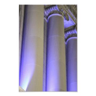 Blue Columns Photo Print