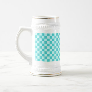 Blue Combination Classic Checkerboard 18 Oz Beer Stein