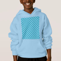 Blue Combination Classic Checkerboard by STaylor Hoodie