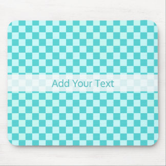 Blue Combination Classic Checkerboard by STaylor Mouse Pad