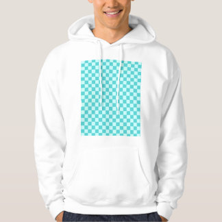 Blue Combination Classic Checkerboard Hoodie