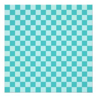 Blue Combination Classic Checkerboard Poster