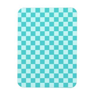 Blue Combination Classic Checkerboard Rectangular Photo Magnet