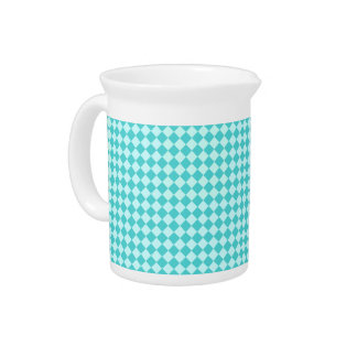 Blue Combination Diamond Pattern by Shirley Taylor Beverage Pitcher