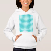 Blue Combination Diamond Pattern by Shirley Taylor Hoodie
