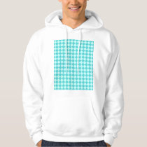 Blue Combination Diamond Pattern Hoodie