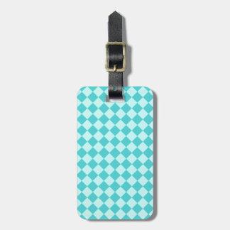 Blue Combination Diamond Pattern Luggage Tags
