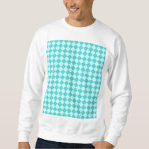 Blue Combination Diamond Pattern Sweatshirt