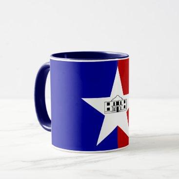 Blue Combo Mug with flag of San Antonio