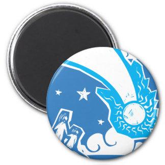 Blue Comet 2 Inch Round Magnet