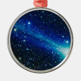 Blue Comet Metal Ornament