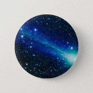 Blue Comet Pinback Button