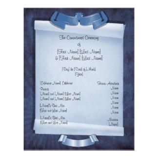 Blue Commitment Ceremony Custom 2-Sided Program Personalized Flyer