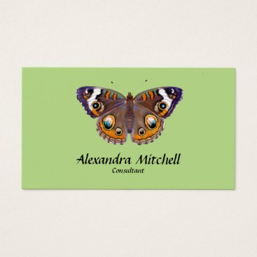 Professional Business Blue Common Buckeye Butterfly Artist Painting Business Card