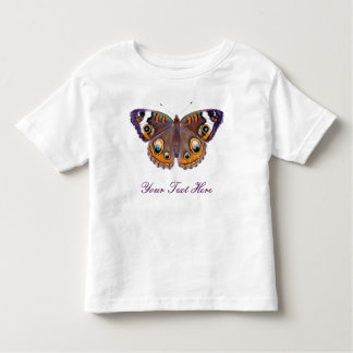 Blue Common Buckeye Butterfly Realistic Painting Toddler T-shirt