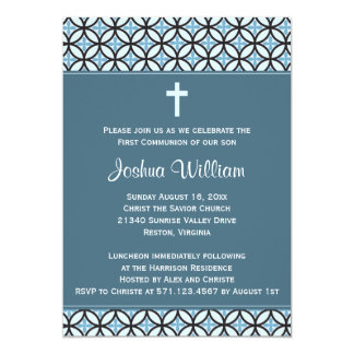 Blue Communion Invitation / Announcement