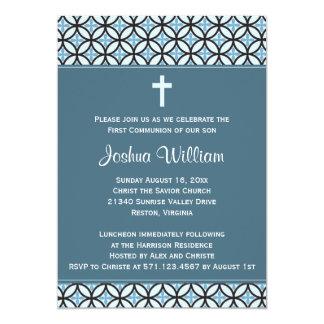 Blue Communion Invitation / Announcement