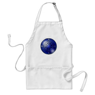 Blue compass rose adult apron