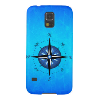 Blue Compass Rose Case For Galaxy S5