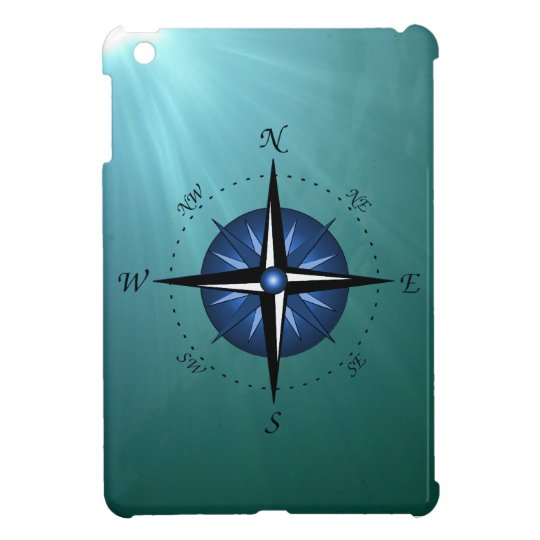 Blue Compass Rose Case For The iPad Mini