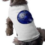 Blue compass rose dog warmer dog tshirt
