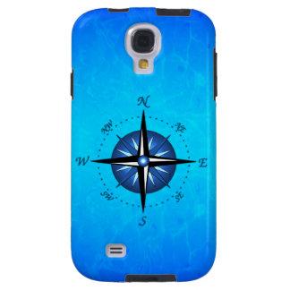 Blue Compass Rose Galaxy S4 Case