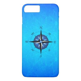Blue Compass Rose iPhone 7 Plus Case