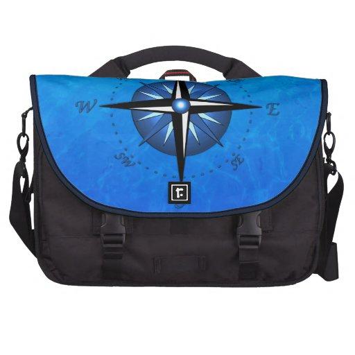 Blue Compass Rose Computer Bag