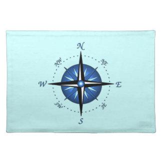 Blue Compass Rose Placemat