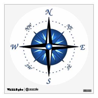 Blue Compass Rose Room Sticker