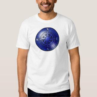 Blue compass rose t-shirt