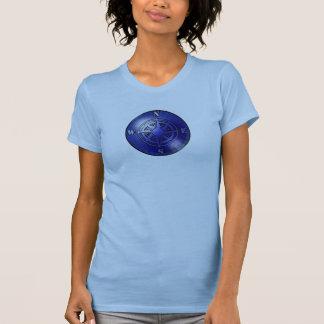 Blue compass rose t shirt
