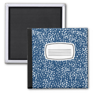 blue composition book 2 inch square magnet