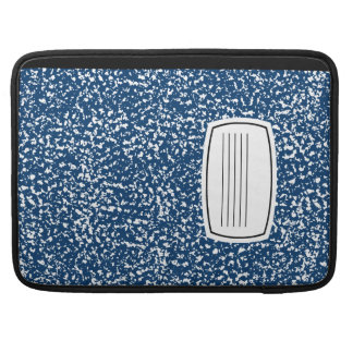 blue composition book sleeve for MacBook pro