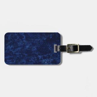 Blue Concrete Design Luggage Tag