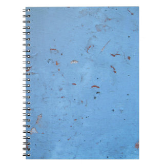 Blue Concrete Texture Spiral Note Book