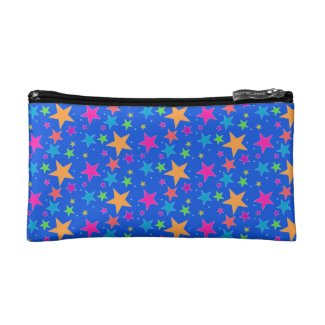 Blue Confetti Multi Makeup Bag