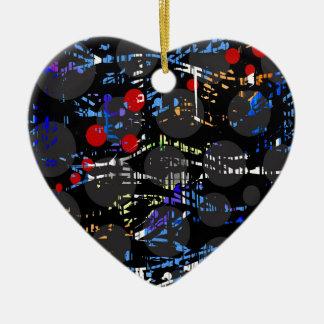 Blue confusion ceramic ornament