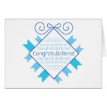 Blue Congratulations! Greeting Card