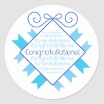 Blue Congratulations! Sticker